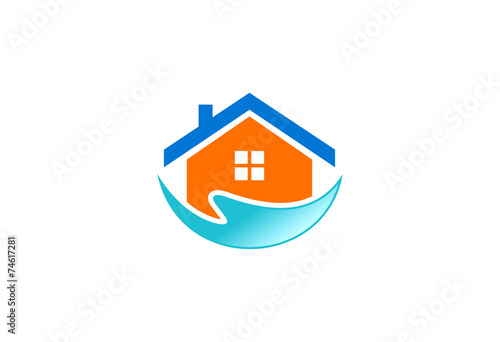 Valokuva  house water clean vector logo