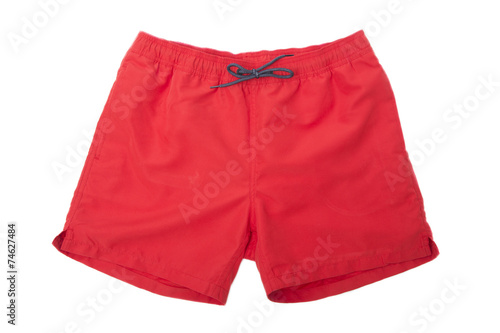 Fotomural  Red Sport shorts