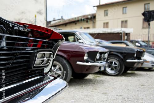 фотография  raduno di auto sportive storiche americane
