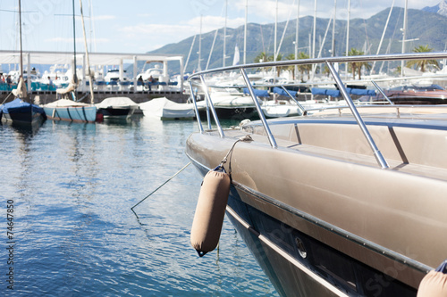 Poster Zeilen marina with luxury boats