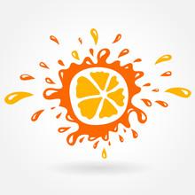 Orange Splash Element