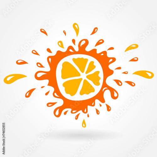 orange splash element Fototapete