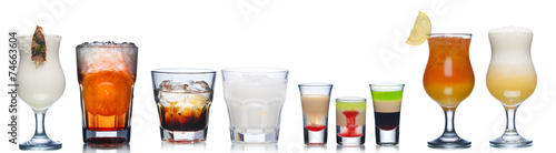 Obraz na plátně Alcoholic cocktails