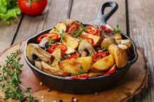 Fried Potatoes With Mushrooms ...