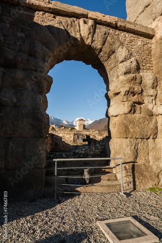 Fotografie, Obraz  Teatro Romano, Aosta, Valle d'Aosta, Italia