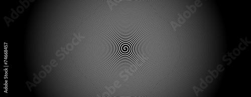 Poster Spiraal spirale weiß zentrum bewegung