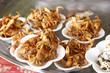 gebratene Krabben in Laos