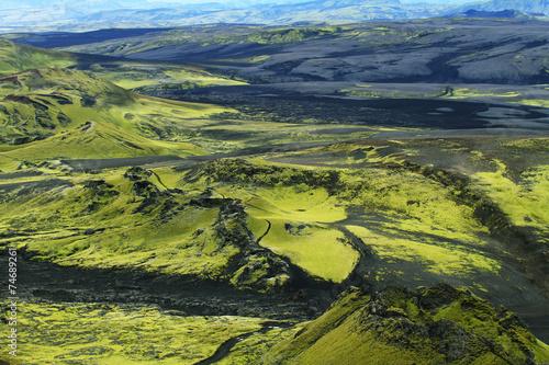 Foto op Aluminium Scandinavië Volcanic landscape in Lakagigar
