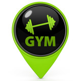Gym  pointer icon on white background