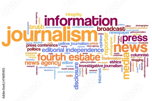 Journalism - word cloud illustration - Buy this stock