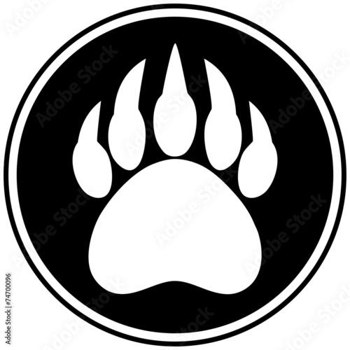 Fotografie, Tablou  Bear Claw Symbol