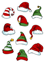 Clown, Joker And Santa Claus C...