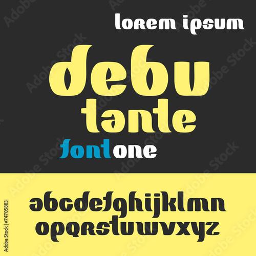 debutante font abc alphabet set Canvas-taulu