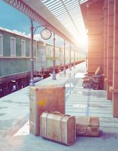 Retro Railway Station