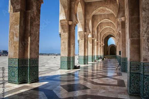Fotografie, Obraz  Interiors passage of Hassan II mosque, Casablanca