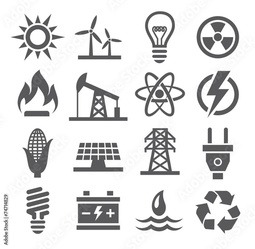 Fotografía  Energy icons