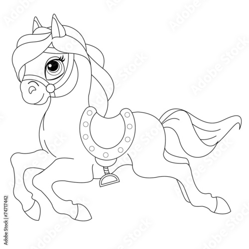 Pretty Pony Coloring Book Page