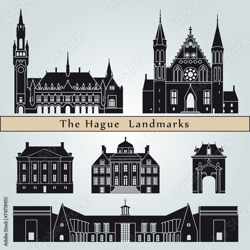 The Hague landmarks and monuments Canvas Print