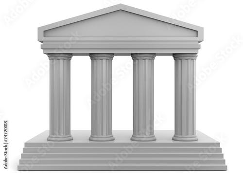 In de dag Bedehuis Temple - 3D