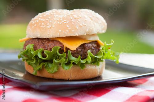 Fototapety, obrazy: Cheeseburger