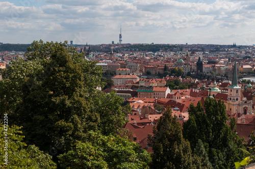Fotografie, Obraz  Prague view from Castle Hill