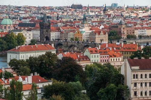 Fotografie, Obraz  Charles Bridge view from Prague Castle