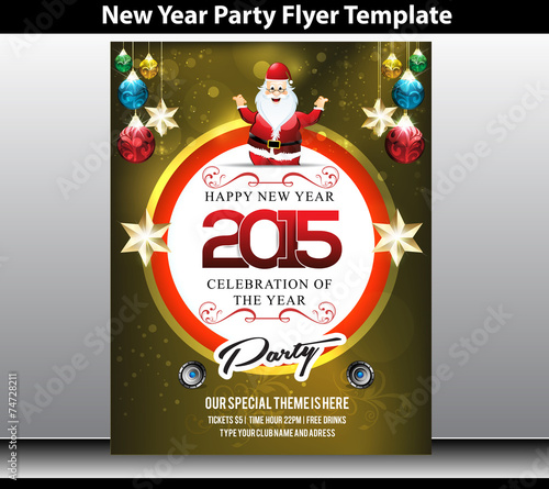 new year party flyer template by rioillustrator
