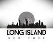 Long Island New York USA Skyline Silhouette Black vector