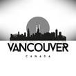 Vancouver Canada Black skyline silhouette vector design.