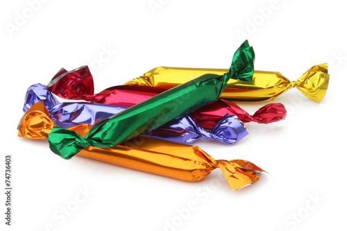 Fotografie, Obraz  Bonbons aux fruits - sucre d'orge