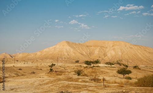 Deurstickers Midden Oosten Landscape with Judean Mountains and desert