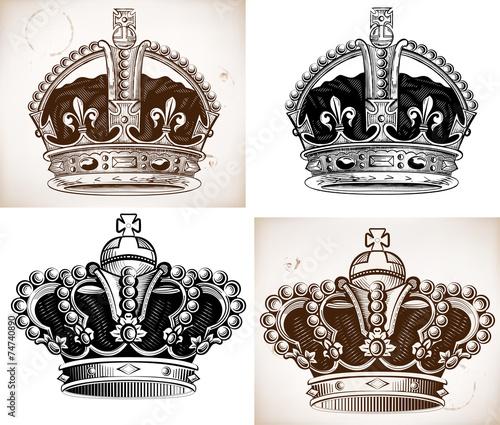 Fotografija Crowns set. Vector file