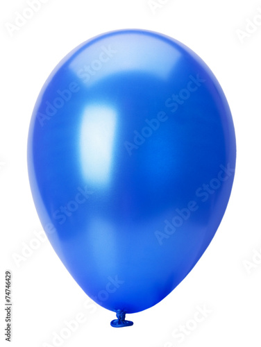 Deurstickers Ballon blue balloon isolated on the white background