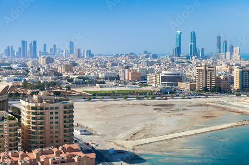 Tuinposter Midden Oosten Bird view of Manama city, Bahrain, Middle East