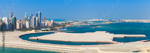 Poster de jardin Moyen-Orient Bird view panorama of Manama city, Bahrain
