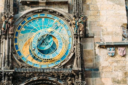Staande foto Praag Astronomical Clock In Prague, Czech Republic. Close Up Photo