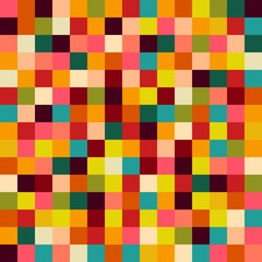 Fototapetacolorful squares background, illustration