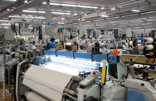 Obraz Textile industry - Weaving and warping - fototapety do salonu