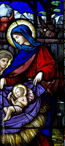 Foto op Plexiglas Bedehuis Mary and the child Jesus