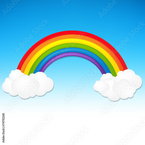 Printed kitchen splashbacks Fairytale World Color Rainbow With Cloud