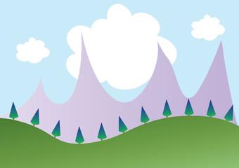Fototapeta samoprzylepna kartka,tło,góry,tapeta