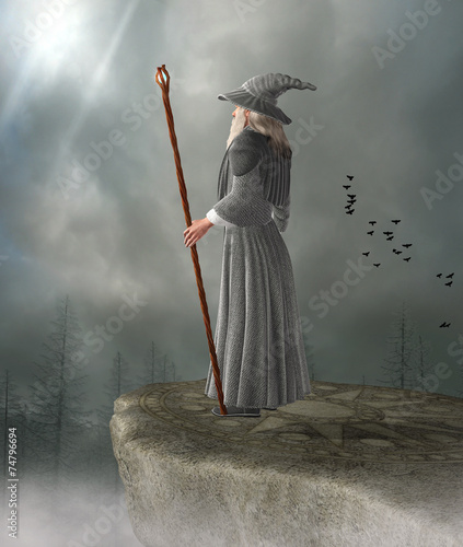 Fotografie, Obraz  Old wizard