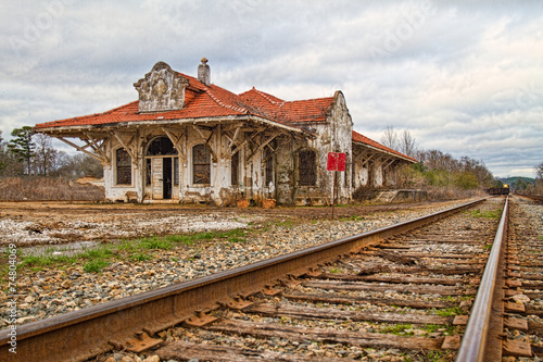 Foto auf AluDibond Bahnhof Wadley Train Station