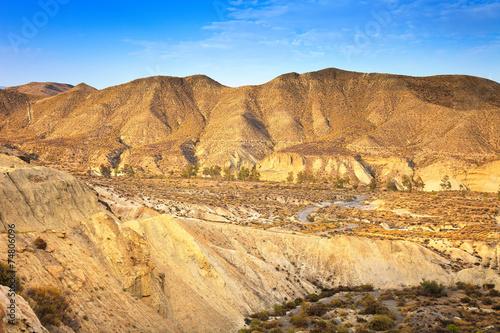 Fotografie, Obraz  Tabernas pouštní hory, Andalusie, Španělsko, kino film Locati