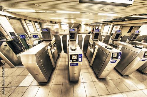 Entrance to the underground station, London Fototapete