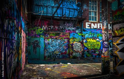 Fényképezés In the Graffiti Alley, Baltimore, Maryland.