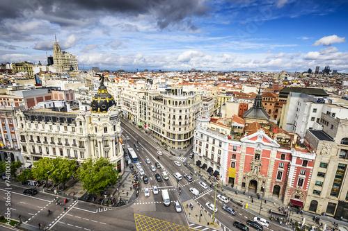 Spoed Fotobehang Madrid Madrid, Spain Cityscape