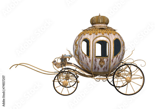 Leinwand Poster Cinderella Carriage