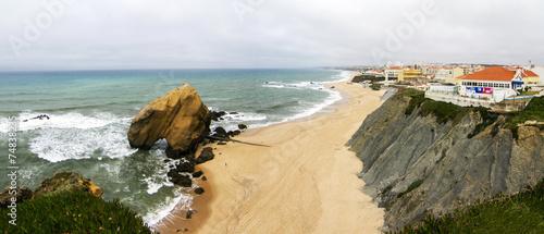 Fotografie, Obraz  beach of Santa Cruz, located in Torres Vedras