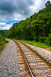 Railroad track in rural Carroll County, Maryland.